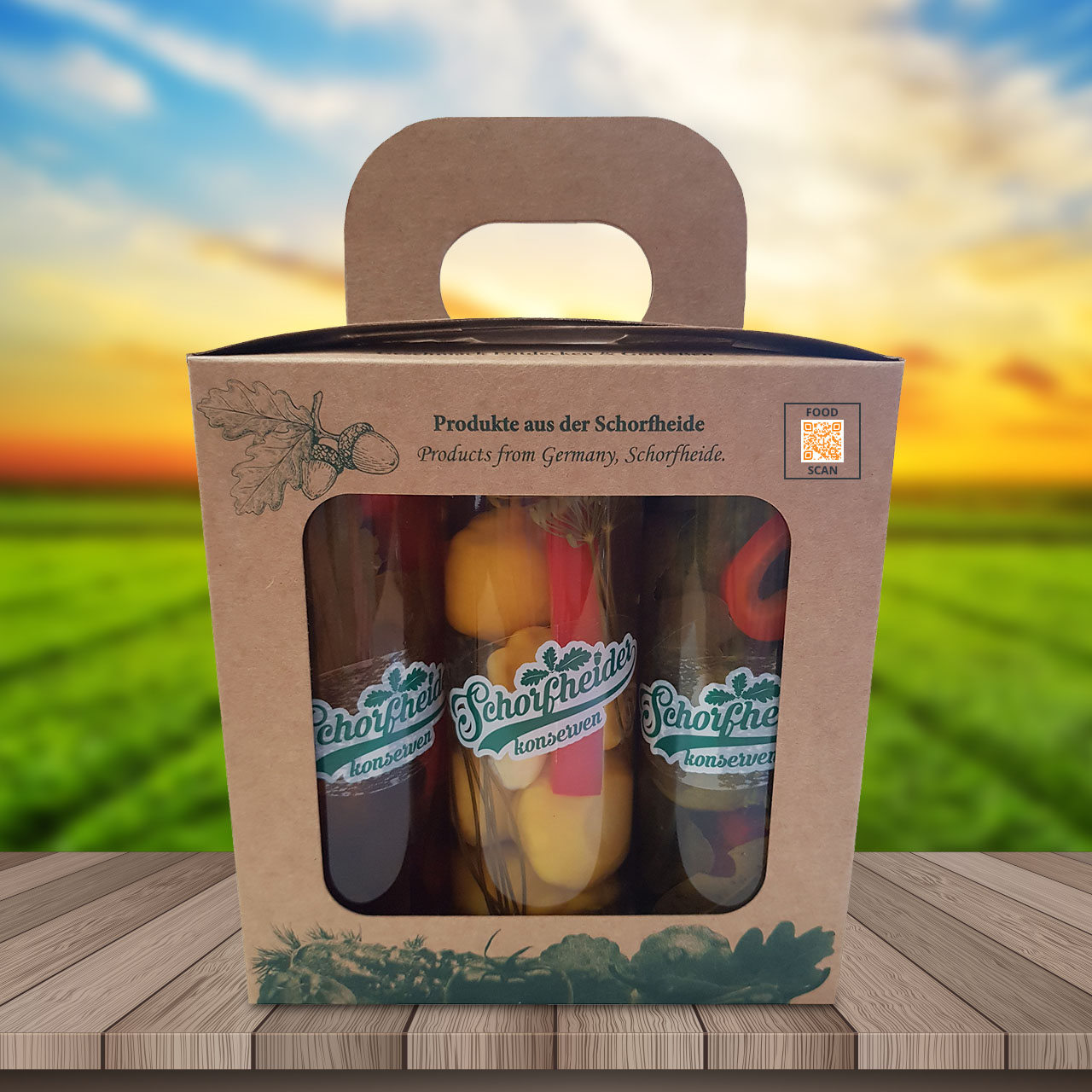Schorfheider preserves in glass jars pack